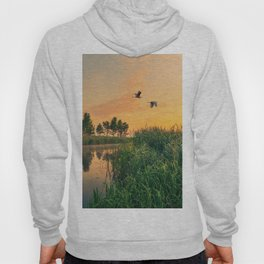 Summer dawn on a small river Hoody
