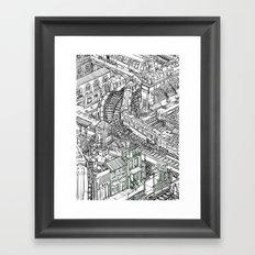 The Town of Train 2 Framed Art Print