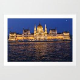 hungarian parlament Art Print