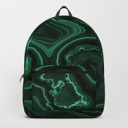 Closeup patterns of malachite Backpack
