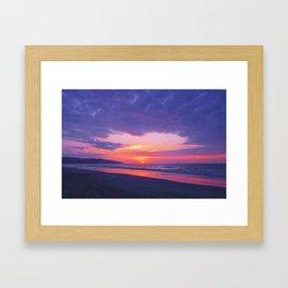Broken sunset by #Bizzartino Framed Art Print