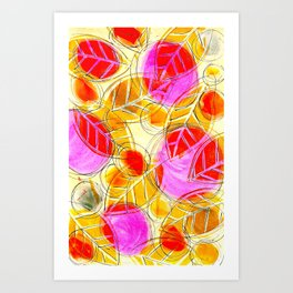 Leaves of Gold Art Print
