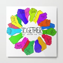 Together no matter the day Metal Print