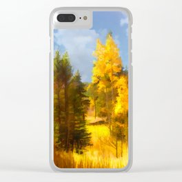 Golden Forest Clear iPhone Case