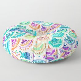 RAINBOW MERMACITA Colorful Mermaid Scales Floor Pillow