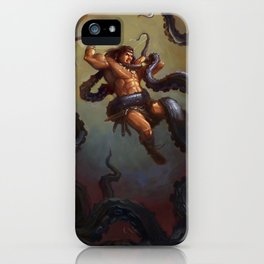 Barbarian vs Kraken iPhone Case