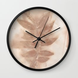 Leaves Left Behind Wall Clock