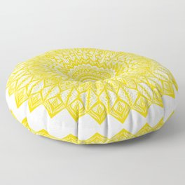 Sunshine-Yellow Floor Pillow