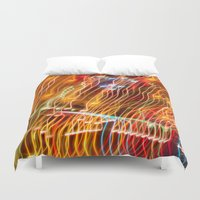tron Duvet Covers featuring Amusement Theory by Lorelei Bleil