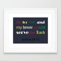 bible Framed Art Prints featuring Bible verse by cmphotography