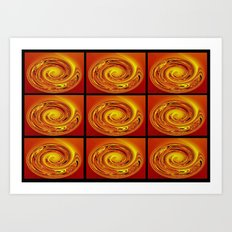 Abstract Collage Orange Art. Art Print