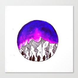 Watercolor Galaxy Canvas Print
