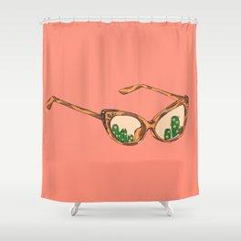 Eyeglass Terrarium Shower Curtain