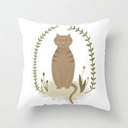 Nature Cat Throw Pillow