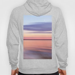 Wide River Dawn with Crescent Moon Hoody