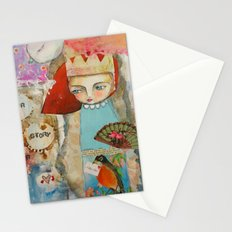 Your story matter - girl and bird inspirational art Stationery Cards