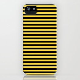 Even Horizontal Stripes, Yellow and Black, S iPhone Case