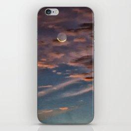 Crescent Moon At Sunrise iPhone Skin