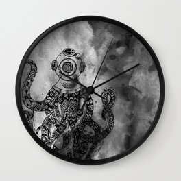 OctiMan Goes Dark Wall Clock