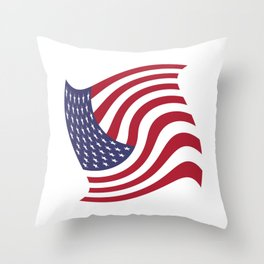 flag in the wind 1: USA Throw Pillow