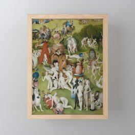 Hieronymus Bosch - The Garden of Earthly Delights - Medieval Oil Painting Framed Mini Art Print