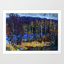 Deer Lake Park. Burnaby, BC, Canada. Art Print