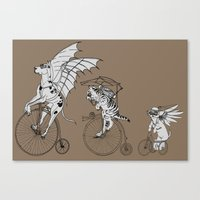 steam punk Canvas Prints featuring Steam Punk Pets by Rebecca Pocai