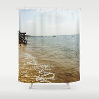 cape cod Shower Curtains featuring Cape Cod Morning by TAnhB
