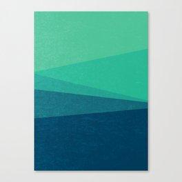 Stripe VIII Minty Fresh Canvas Print