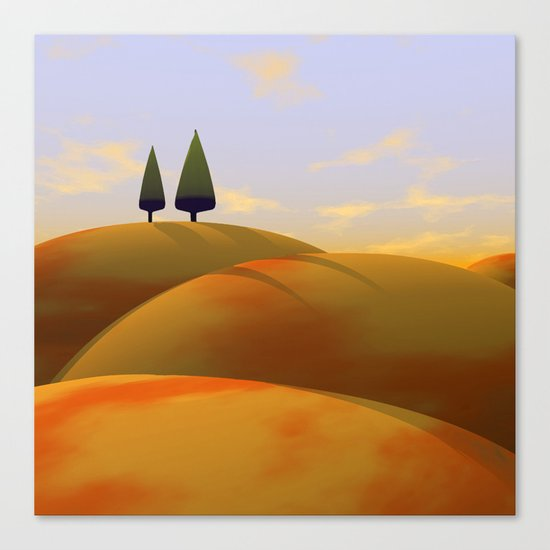 Toscana One (part of diptych) Canvas Print