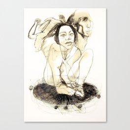 Tristan Corbière, Thick Black Trace, A la memoire de Zulma Canvas Print