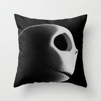 nightmare Throw Pillows featuring Nightmare by Crumblin' Cookie