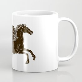 Hippocampus Sea Horse Myth Retro Vintage Rough Design Coffee Mug