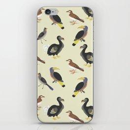 medieval illustration BIRDS iPhone Skin