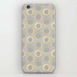 Solar Eclipse MCM Gray-Yellow iPhone Skin