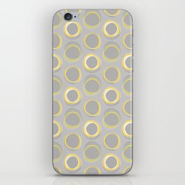 Solar Eclipse MCM Gray-Yellow iPhone Skin