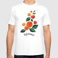 Orange Tree Mens Fitted Tee MEDIUM White