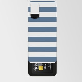 Blue and White Stripes Android Card Case