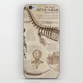 """Loch Ness Monster: """"The Living Plesiosaurus"""" - The lost notebook account iPhone Skin"""