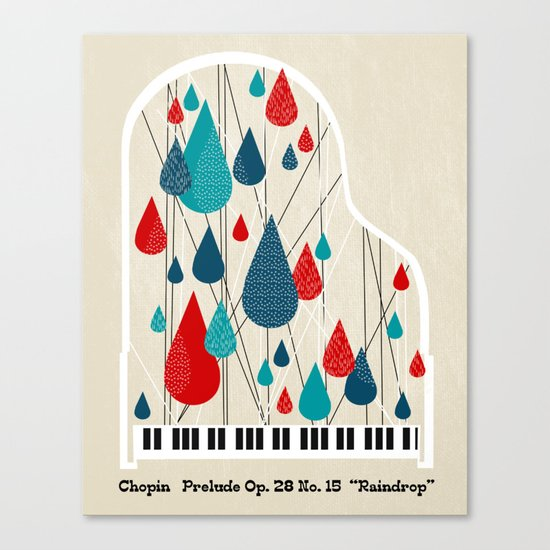 "Chopin - Prelude Op. 28 No. 15 ""Raindrop"" Canvas Print"