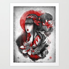 Mizu Art Print