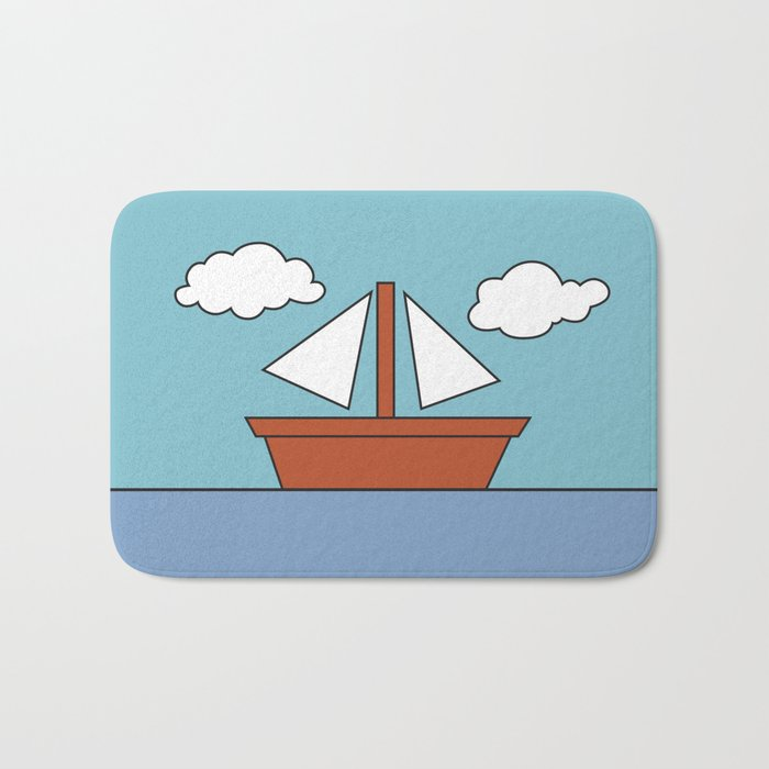 Simpsons Living Room Boat Picture Bath Mat By Fanatoonic Society6