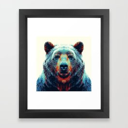 Bear - Colorful Animals Framed Art Print