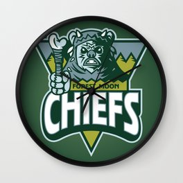 Forest Moon Chiefs - Green Wall Clock