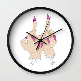 FOR YOUR TWO FACES Wall Clock