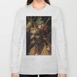 Four Seasons In One Head - Giuseppe Arcimboldo Long Sleeve T-shirt