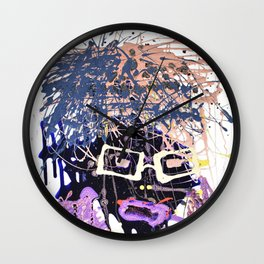 abstract people, modern art, abstract painting, cool abstract, abstract man Wall Clock