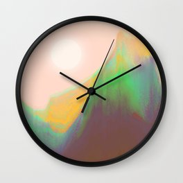 Mountain Heat Wall Clock