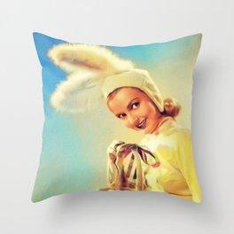 Lynn Merrick, Vintage Actress Throw Pillow