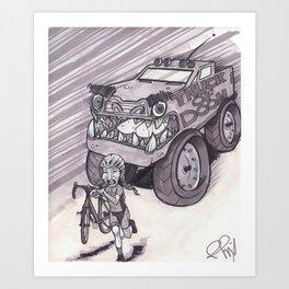 Truck of Doom Art Print